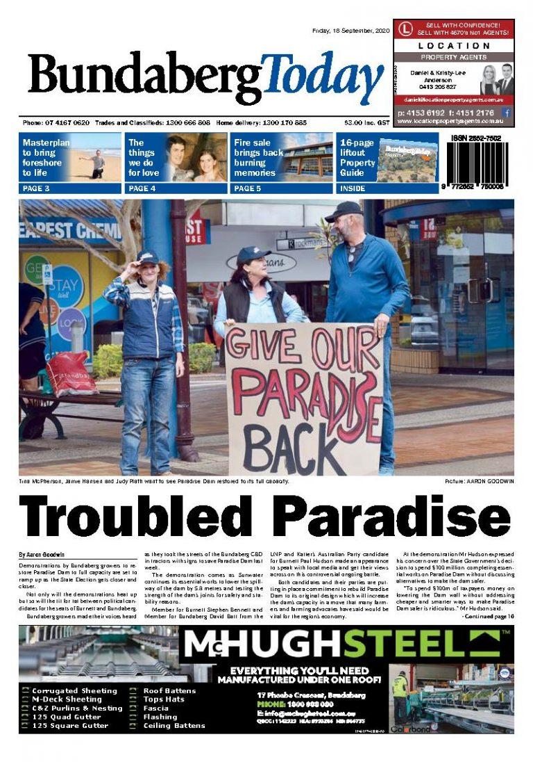 Bundaberg Today – 18th September 2020