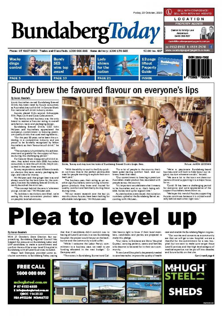 Bundaberg Today – 23rd October 2020