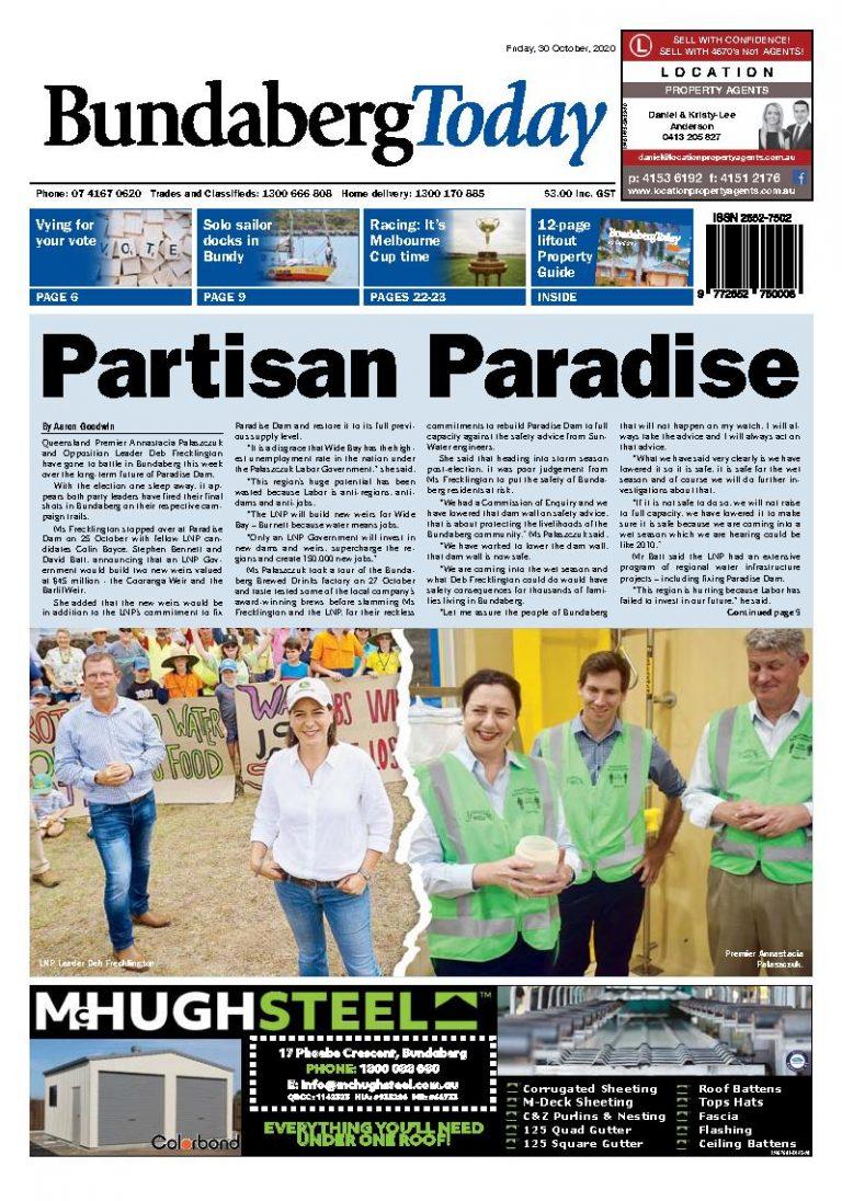 Bundaberg Today – 30th October 2020