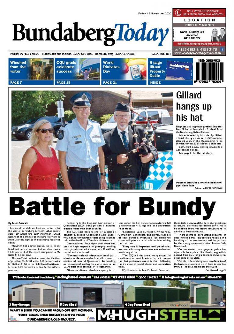 Bundaberg Today – 13th November 2020