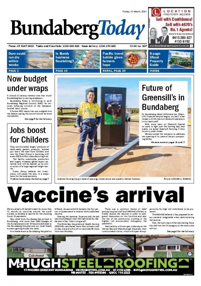 Bundaberg Today – 12th March 2021