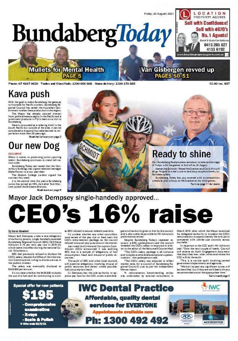 Bundaberg Today – 20th August 2021