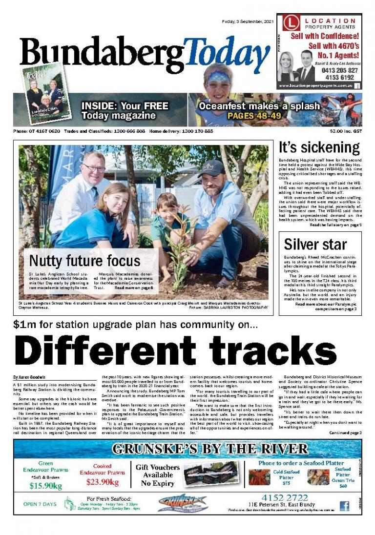 Bundaberg Today – 3rd September 2021