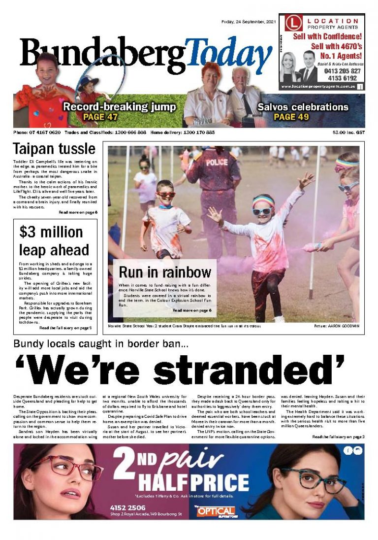 Bundaberg Today – 24th September 2021